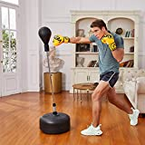 Hicient Punching Bag Free Standing Boxing Bag