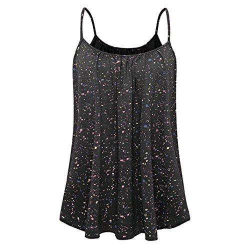 Sans Irrgulier Top Femme Chemisier t Dbardeur Shirt Gilet Femme Hem Manches Sexyville Camisole T Vest Noir Impression Tops x6aInB0c