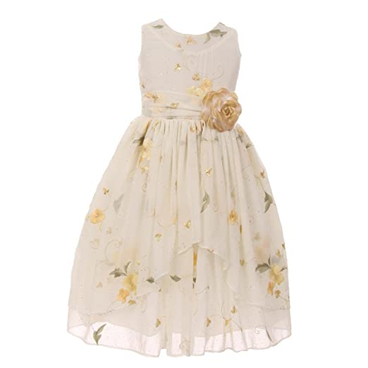 0fc7627ee2a Kiki Kids Little Girls Ivory Chiffon Embroidered Overlaid Flower Girl Dress  4