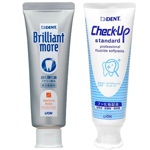 Dent. Daily Whitening Set (Brilliant More 90g + Checkup Standard 120g) (Apricot Mint) by Dent.