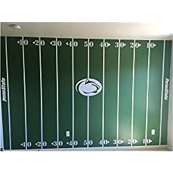 Personalized Football Field Wall Kit#2 Small-White, Man Cave, Boys Room, Vinyl Decal, Sticker
