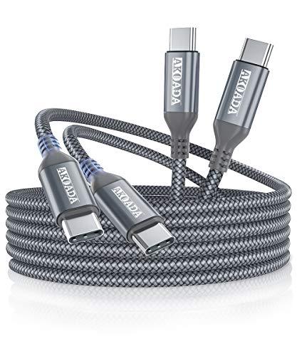 2 Cables Trenzados USB-C a USB-C 3mt AkoaDa -KFCD