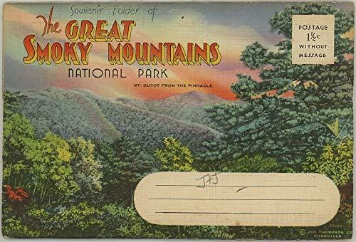 The Great Smoky Mountains National Park - 1937 Asheville Souvenir Linen Postcard Folder
