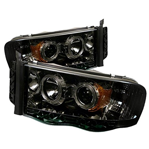 Spyder Auto PRO-YD-DR02-HL-SMC Smoke Halo LED Projection Headlight (02 Dodge Ram Halo Headlights compare prices)