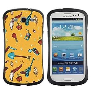 Suave TPU GEL Carcasa Funda Silicona Blando Estuche Caso de protección (para) Samsung Galaxy S3 I9300 / CECELL Phone case / / Summer Beach Sand Yellow Drawing /