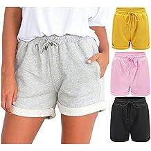 fan products of Clearance Sale!FarJing Women Hot Pants Casual Loose Shorts Beach High Waist Short Trousers