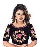 Veerat Fashion Indian Pakistani Designer Banglori Silk Black Readymade Blouse For Sarees