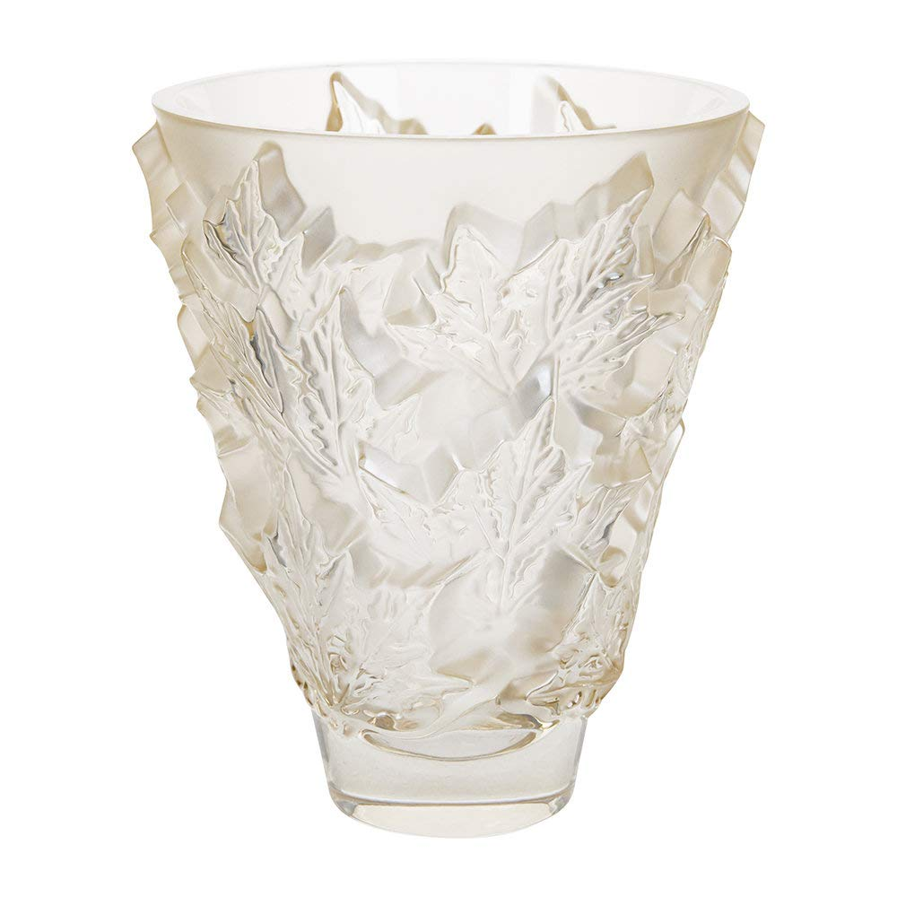 Lalique Champs-Elysees Vase - Gold Luster - Small by Lalique (Image #3)