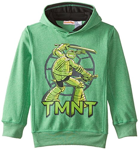 Teenage Mutant Ninja Turtles Big Boys' Character Hoodie, Green Heather, 14/16