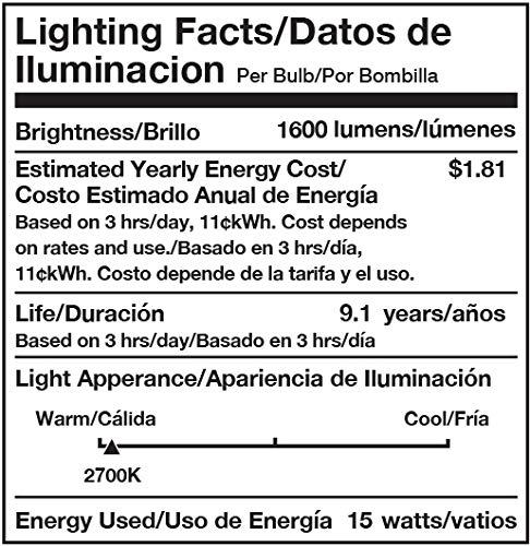 Amazon Basics 100W Equivalent, Soft White, Non-Dimmable, 10,000 Hour Lifetime, A19 LED Light Bulb | 16-Pack