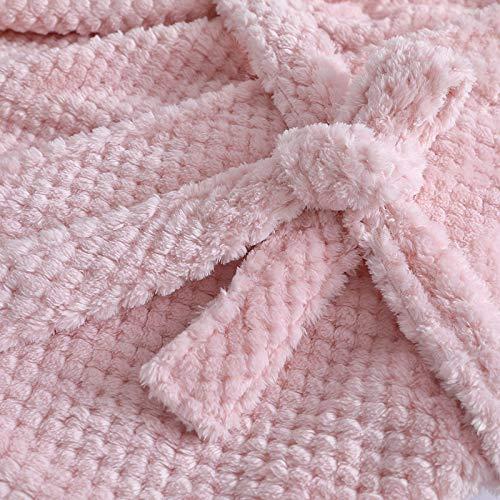bata larga de ba/ño Ropa de dormir s/ólida S/úper suave y acogedora Bata de felpa ni/ñas Winter Kids Warm Pijamas Traje de una pieza para ni/ños