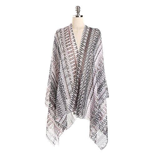 Sciarpe Uv Wrap Silk Solare Felix Vacanza Scuro Costumi Donna Bambine amp; Ragazze Grigia Da Spiaggia Copricostumi Protezione Bagno E P8Hqpw0Sxq