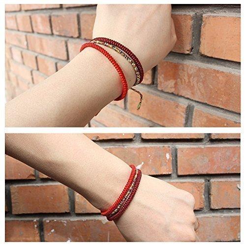 478fa84e86 TALE Lucky Rope Bracelet Tibetan Buddhist Handmade Knots - Import It All