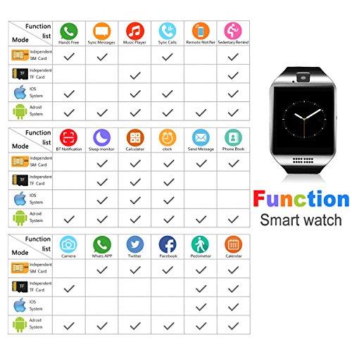 Bluetooth Smart Watch with Camera Waterproof Smartwatch Touch Screen Phone Unlocked Cell Phone Watch Smart Wrist Watch Smart Watches for Android Phones iOS Smartphone Men Women Kids by IFUNDA (Image #3)