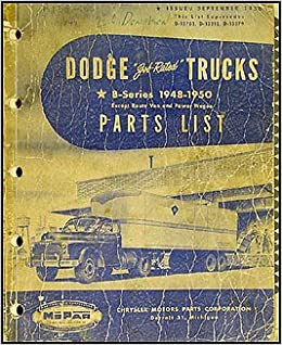 Dodge Truck Parts >> 1948 1950 Dodge Truck Parts Book Original Dodge Amazon Com