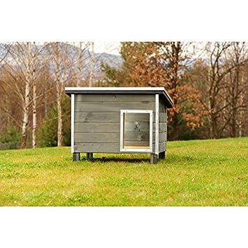 Caseta Skye de madera gris con corrugado cm.125 x 88 x 86 cp04003: Amazon.es: Productos para mascotas