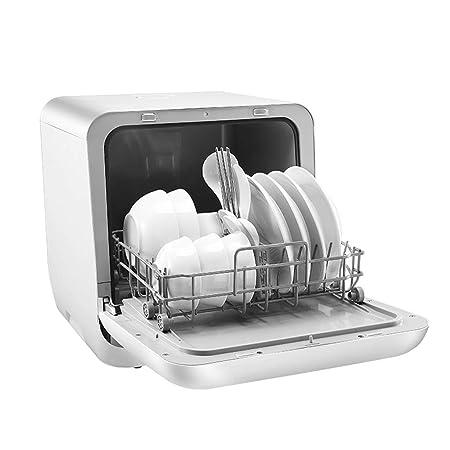 DHINGM Pequeño automática hogar Desinfección lavavajillas, 2 ...