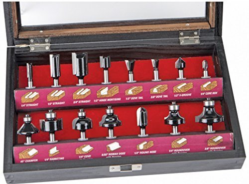 Warrior 15 Piece Woodworking Router Bit Set for Table Routers by Harbor Freight Tools