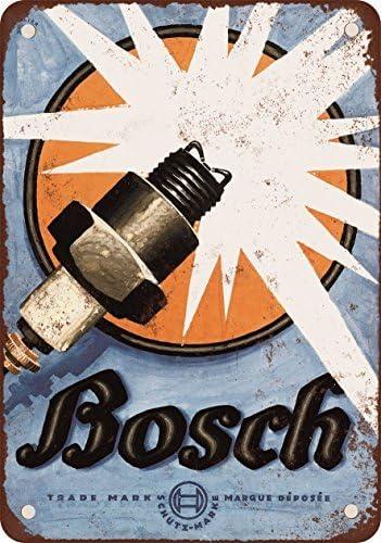 1926 Bosch bujías reproducción de aspecto Vintage Metal placa metálica, 12 x 18 inches: Amazon.es: Hogar