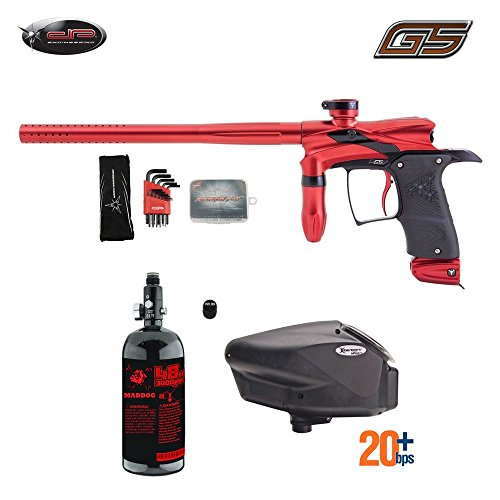 - MAddog Dangerous Power G5 HPA Paintball Gun Package A - Red/Black