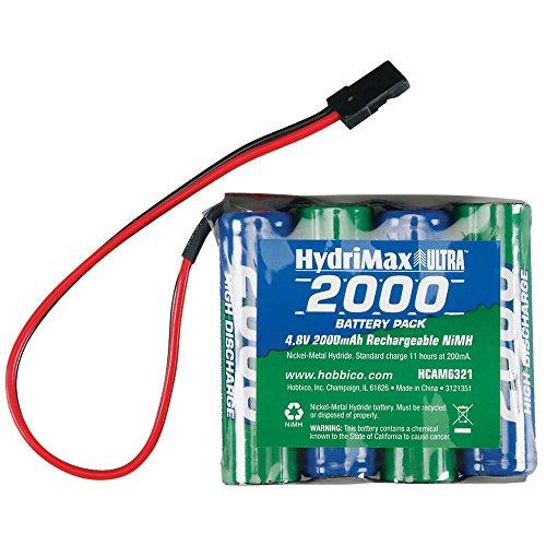 Hobbico Hydrimax Nimh 4C 4 8V 2000Mah Flat Aa Rx U Battery Pack