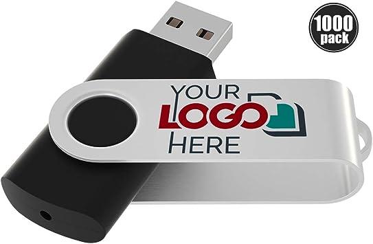 8GB USB Swivel USB Flash Drive Custom Personalized Logo Imprinted 20pcs