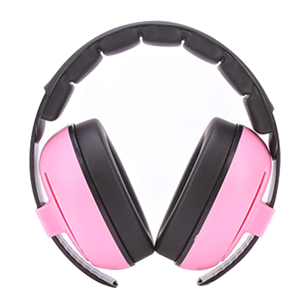 DLYDSS Noise Canceling Headphones, Children's Soundproof Headphones, Noise Protection Headphones. Noise 23dB, Suitable for 0-3 Year-Old Children and Infants (Color : Pink) by DLYDSS