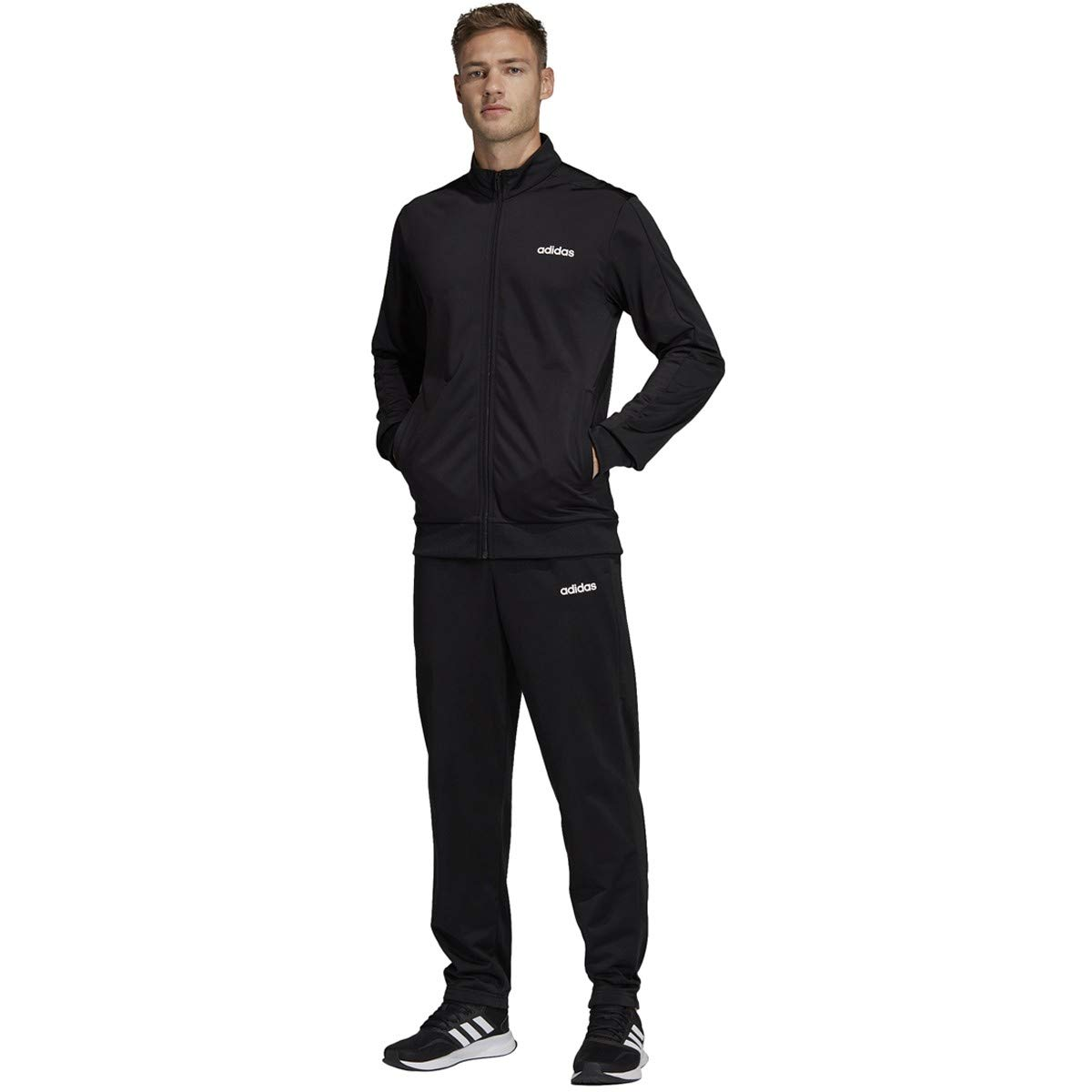 adidas Basics Track Suit-Men's Training S Black/Black by adidas