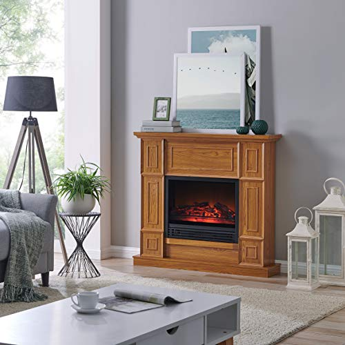 Cheap Fireplace Oak Electric - Fire Place Freestanding - Fireplace Remote Control and Led - Fire Place Decorations for Living Room Stand - Fireplace Space Heater Electric - Electric Fireplace in Golden Oak Black Friday & Cyber Monday 2019