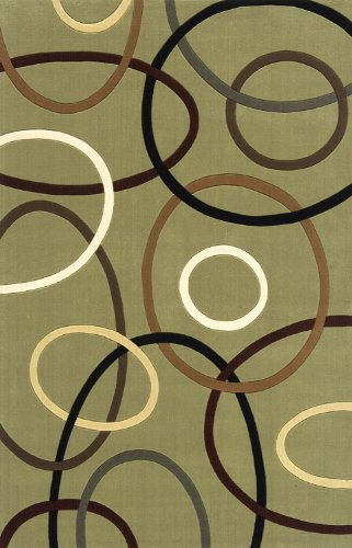 Momeni Rugs ELEMTEL-09SAG5080 Elements Collection, 100% New Zealand Wool Hand Carved Contemporary Area Rug, 5' x 8', Sage