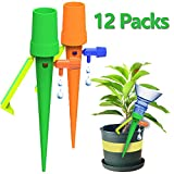 KasePlus [New] Plant Self Watering Spikes, Plant Waterer, 12 PCS Plant Watering Devices with Slow Release Control Valve