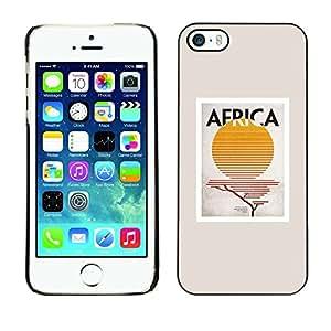 Cubierta de la caja de protección la piel dura para el Apple iPhone 5 / 5S - sign sun poster minimalist beige