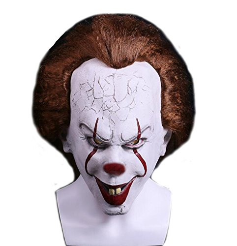 Yangxiao Unisex Hot Sale Clown Cosplay Mask Costume Accessories For Halloween (One Size, As picture)