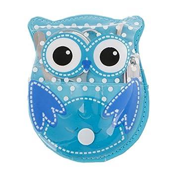 Fashlady Azul Coruja Dos Desenhos Animados 5 Pcs Manicure Nail Care Clippers Tesoura Grooming Kits De Viagem W15 Amazon In Beauty