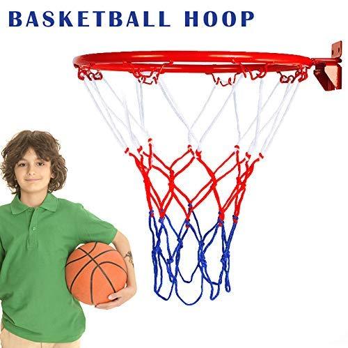 Lumon Canasta de Baloncesto Soporte Pared, Plegable Llanta Red, Deporte Regalo Juguetes para Interior Exterior Niños
