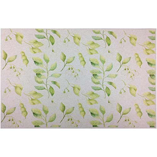 French Paper Dining Placemats - Set of 12 (Sweet Pea (Green-50 count bulk pack))