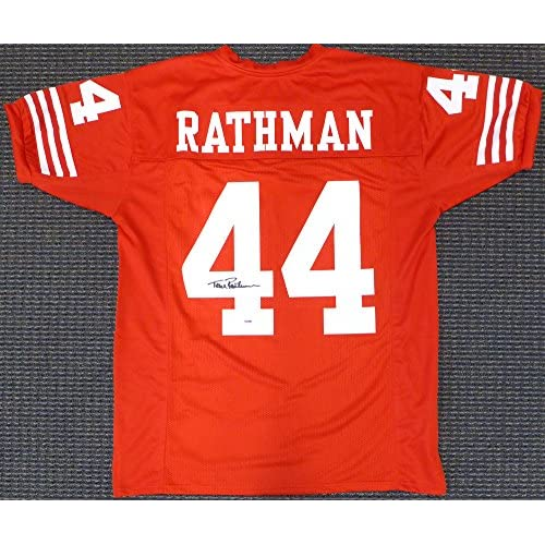 cheaper fa880 5a781 San Francisco 49ers Ronnie Lott Signed Autograph Red Jersey ...