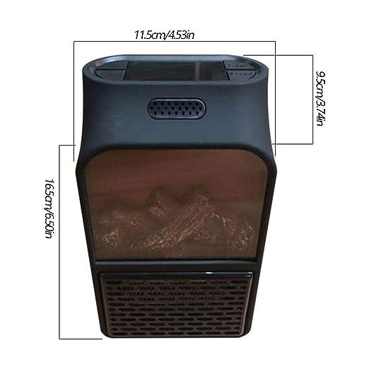 Llama Calefactor Portátil Simulación Heater Bajo Consumo Temperatura Regulable Baño Casa Oficina,Efecto de llama LED: Amazon.es: Bricolaje y herramientas