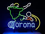Corona Soccer Neon Sign 24''x20'' Inches Bright Neon Light for Mancave Beer Bar Pub Garage New