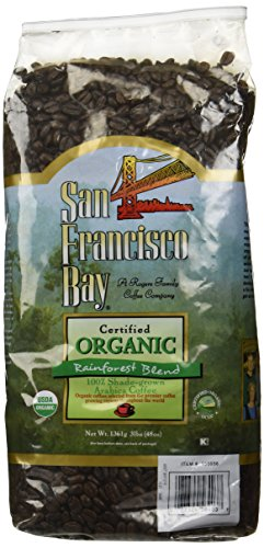 San Francisco Bay 100% Organic Coffee Rainforest Graduate Whole Bean 3 Lbs