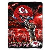 NFL Kansas City Chiefs 60-Inch-by-80-Inch Plush Rachel Blanket, Sky Helmet Design