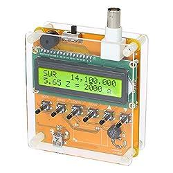 Togethluer Digital Infrared Analyzer Tester Thermometer,1-60m LCD Digital Shortwave Antenna Analyzer Meter Tester for Ham Radio Q9 Head