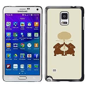 A-type Arte & diseño plástico duro Fundas Cover Cubre Hard Case Cover para Samsung Galaxy Note 4 (Oso High Five)