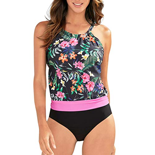 Pandaie-Womens Swimsuits, Women Swimwear Beachwear Floral Print 2 Pieces Bikini Swimsuit Bathing Suit Hot ()