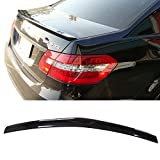 Pre-painted Trunk Spoiler Fits 2010-2016 Benz E-Class | AMG Style ABS Painted #197 Obsidian Black Met Rear Tail Lip Deck Boot Wing Other Color Available By IKON MOTORSPORTS | 2011 2012 2013 2014 2015