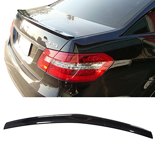 (Pre-painted Trunk Spoiler Fits 2010-2016 Benz E-Class | AMG Style ABS Painted #197 Obsidian Black Met Rear Tail Lip Deck Boot Wing Other Color Available By IKON MOTORSPORTS | 2011 2012 2013 2014 2015 )