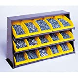 Bench Pick Rack Storage Systems Bin Dimensions: 4'' H x 6 5/8'' W x 11 5/8'' D (qty. 15), Bin Color: Ivory