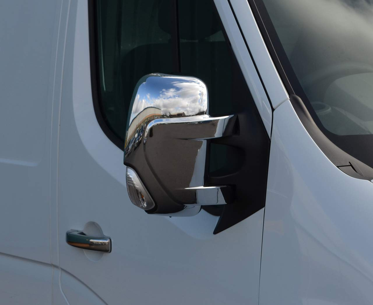 Chrome Wing Mirror Trim Set Covers To Fit Master (2010+)