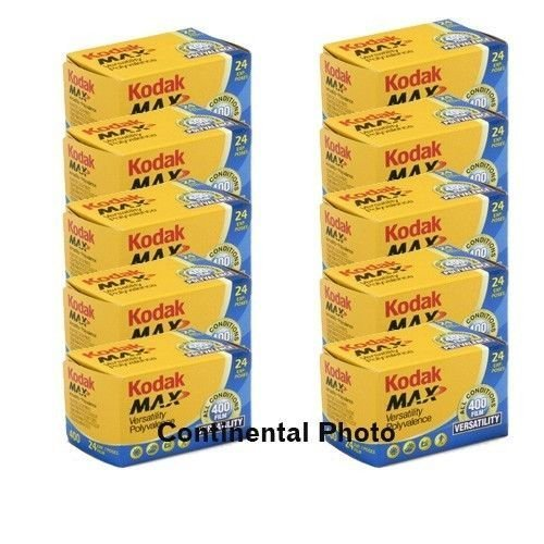 10 Rolls Kodak GC 135-24 Max 400 Color Print 35mm
