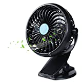 Ocamo Rotating Fan with Clip Gift Mini USB Charging 360 Degree Household Fans (without Battery)